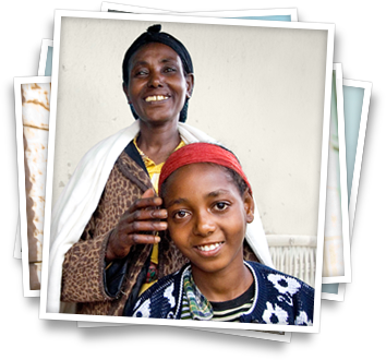 One of CURE's patients, Keneni, and her grandmother after Keneni's life-changing surgery at CURE's hospital in Kenya.