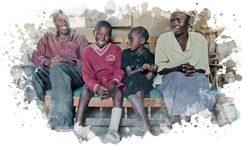 Alfred's whole family was transformed by the clubfoot surgery Alfred received at CURE Kenya
