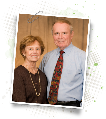 A recent photo of C. Scott Harrison and Sally Harrison, CURE International founders
