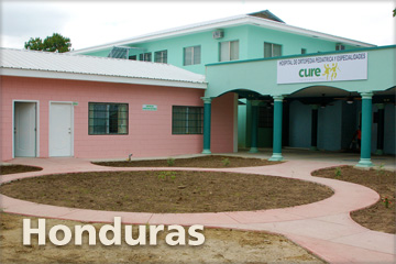CURE's hospital in Honduras from the yard in front of the hospital.