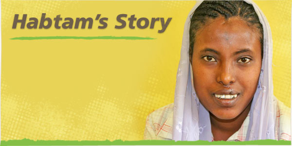 Image of Habtam, a patient at the CURE Ethiopia hospital (background image)