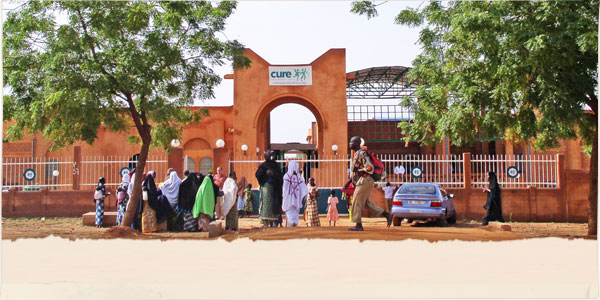 Image CURE's hospital facility in Niger