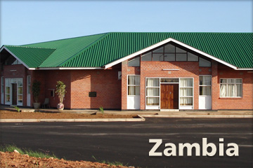The administrative wing of the CURE hospital in Zambia.